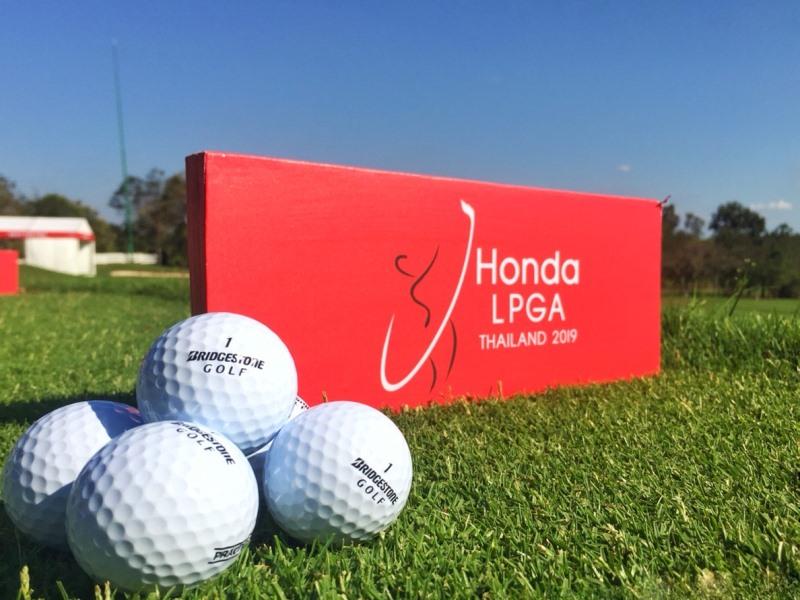 บริดจสโตนกอล์ฟประเทศไทย สนับสนุนนักกีฬากอล์ฟในรายการแข่งขัน Honda LPGA Thailand 2019