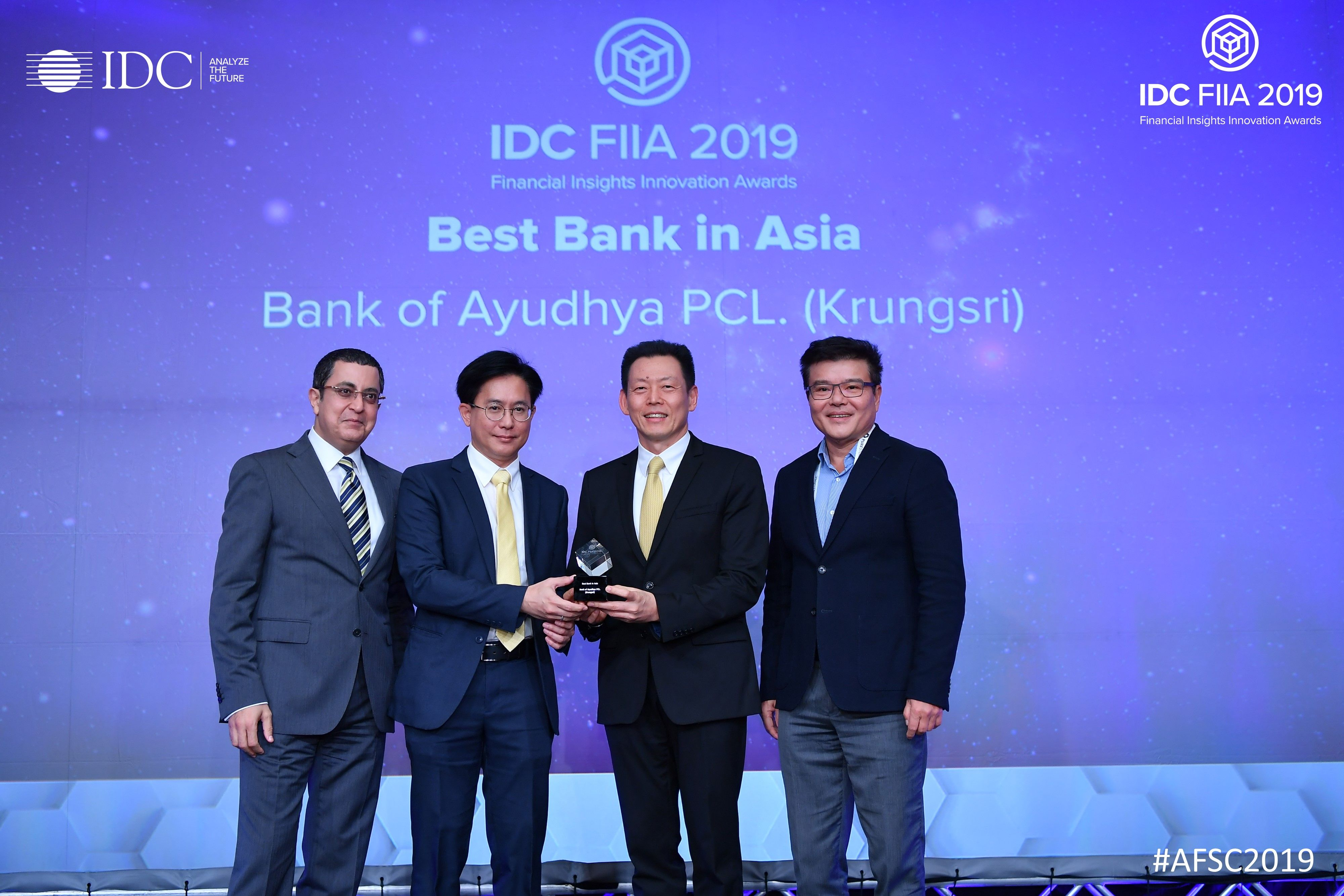 กรุงศรีคว้ารางวัล Best Bank in Asia/ Pacific จาก IDC