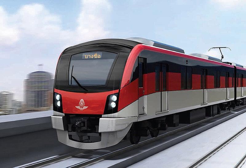 """ครม.ไฟเขียวรถไฟสีแดงอ่อน """"ตลิ่งชัน-ศิริราช"""" 6.64 พันล้าน"""