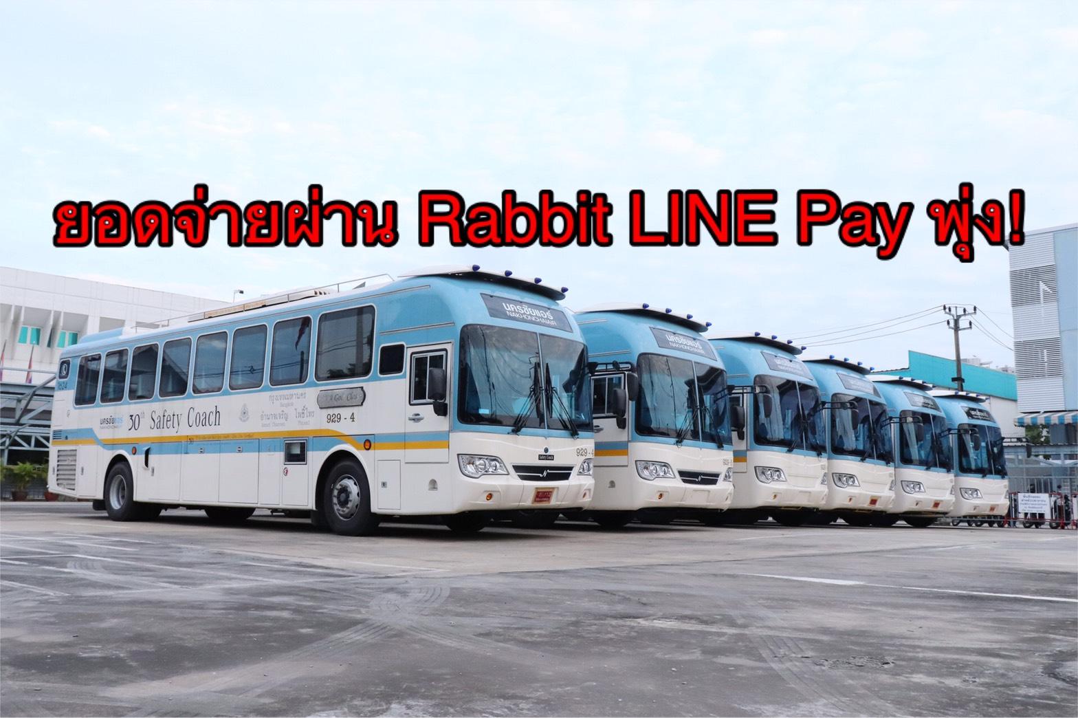 ยอดจ่ายค่าตั๋ว 'นครชัยแอร์' ผ่าน Rabbit LINE Pay พุ่ง! 2 เดือน มีผู้ใช้ 4 พันราย