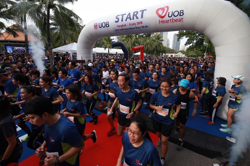 ยูโอบี จัดกิจกรรม2019 UOB Heartbeat Run/Walk ระดมทุนมอบโอกาสทางการศึกษาแก่เยาวชน